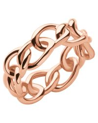Links of London - Pink Signature Band Ring - Lyst