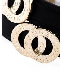BVLGARI - Black Double Coiled Bracelet - Lyst