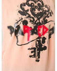RED Valentino - Pink Long Printed Tank Top - Lyst
