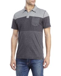 DKNY - Black Engineered Feeder Stripe Polo for Men - Lyst
