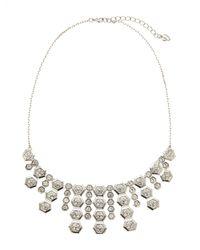 Carolee - Metallic Silver-Tone Fringe Necklace - Lyst