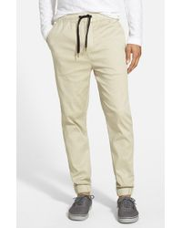 Ezekiel | Brown 'bedford' Twill Jogger Pants for Men | Lyst