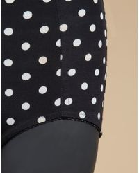 Dolce & Gabbana - Black High Waist Panties In Printed Charmeuse - Lyst