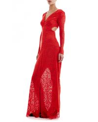 Temperley London - Red Long Nomi Backless Dress - Lyst
