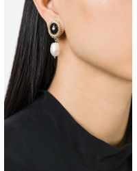 Givenchy | Black Faux Pearl Drop Earrings | Lyst