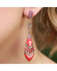 Wendy Yue - Pink Coral Shield Earrings - Lyst