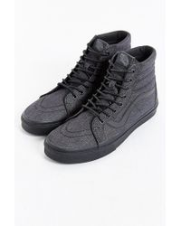 Vans | Gray Sk8-hi Reissue Denim Sneaker for Men | Lyst
