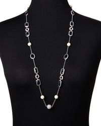 Carolee | Blue Silver-Tone Accented Peacock Necklace | Lyst