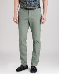 Ted Baker | Green Rurisk Slim Fit Chinos for Men | Lyst