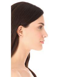 Vita Fede   Metallic Half Moon Half Crystal Earrings   Lyst