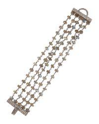 Bavna | Multicolor Labradorite & Diamond Multi-strand Bracelet | Lyst