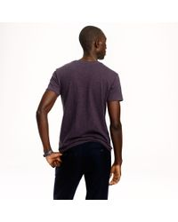J.Crew - Purple Slim Flagstone Contrast Pocket Tee for Men - Lyst