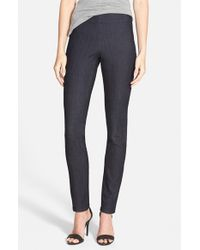 NYDJ | Gray 'poppy' Pull-on Stretch Denim Leggings | Lyst
