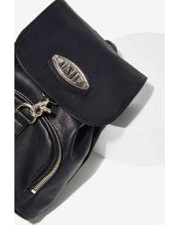 Nasty Gal - Black Quip Vegan Leather Mini Backpack - Lyst