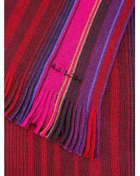 Paul Smith - Purple Striped Scarf for Men - Lyst