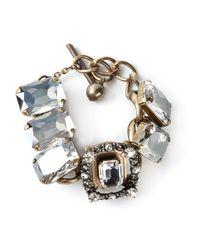 Lanvin | Metallic Embellished Bracelet | Lyst