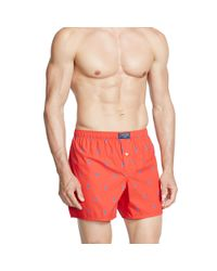 Polo Ralph Lauren | Red Allover Pony Boxer for Men | Lyst