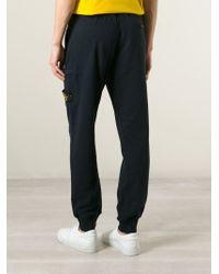 Stone Island - Blue Logo Patch Sweatpants for Men - Lyst