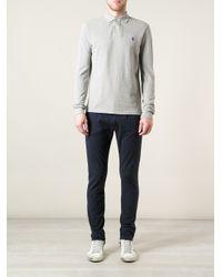 Ralph Lauren Blue Label - Gray Long Sleeve Polo Shirt for Men - Lyst
