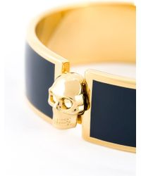 Alexander McQueen | Blue Skull Detail Bangle | Lyst