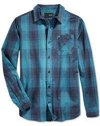 Hurley | Black Creek Plaid Long-sleeve Shirt for Men | Lyst