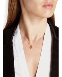 Daisy Knights | Metallic Little Shark Gold-plated Necklace | Lyst