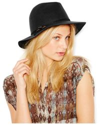 Nine West | Black Felt Rancher Hat | Lyst