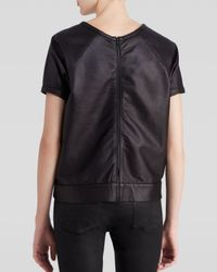 Rag & Bone - Black Sweatshirt Rocky Leather - Lyst