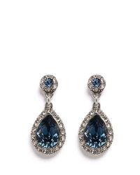 Philippe Audibert - Blue Elea Crystal Drop Earrings - Lyst