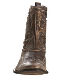 Mark Nason - Rock Lives Dark Brown Seamed Leather Dragon Boots for Men - Lyst