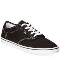 Vans | Black Women's Atwood Low Lace-up Sneakers | Lyst