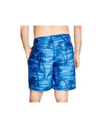 Surfside Supply - Blue Surfside Palm Tree Board Shorts for Men - Lyst