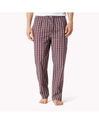 Tommy Hilfiger - Multicolor Cotton Woven Loungewear Pant for Men - Lyst