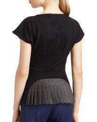 Fendi - Black Pleated Inset Top - Lyst