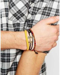 ASOS | Multicolor Ditsy Bracelet Pack With Anchor for Men | Lyst