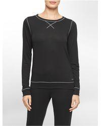 Calvin Klein | Black Underwear Liquid Lounge Pajama Top | Lyst