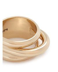 St. John | Metallic Concentric Tubular Ring | Lyst