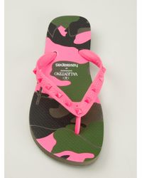 Havaianas - Purple Rockstud Flip Flops - Lyst