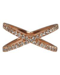Eva Fehren - Metallic Rose Gold And Diamond The Shorty Ring - Lyst