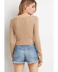 Forever 21 - Brown Classic Cropped Sweater - Lyst