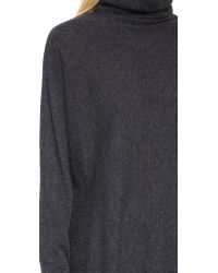 Autumn Cashmere | Black Dolman Scrunch Neck Sweater | Lyst