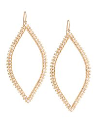 Jamie Wolf - Metallic Open Marquis Leaf Earrings With Pearls - Lyst