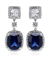 Carat* - Blue Sapphire Borderset Drop Earrings - Lyst