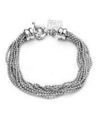 Anne Klein | Metallic Silvertone Ball Chain Multi-Strand Bracelet | Lyst