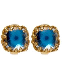 Larkspur & Hawk - Small Blue Jane Post Earrings - Lyst