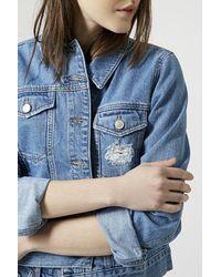 TOPSHOP | Blue Moto Vintage Western Jacket | Lyst
