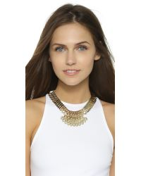 DANNIJO | Metallic Julia Necklace - Gold/crystal | Lyst