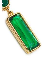 Kenneth Jay Lane - Green Cabochon Stone Drop Earrings - Lyst