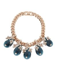 Mawi - Pink Blossom Rose Gold Plated Swarovski Necklace - Lyst