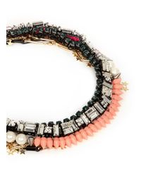 Venna | Multicolor Star Charm Spike Collar Necklace | Lyst